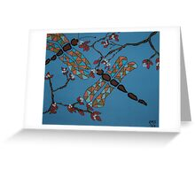 Dragonflies and Cherry Blossoms Greeting Card