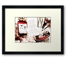 Playing games? Framed Print