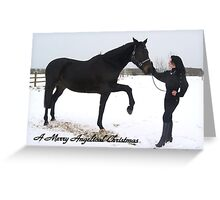 A Girls Best Friend... Xmas snow series 1 Greeting Card