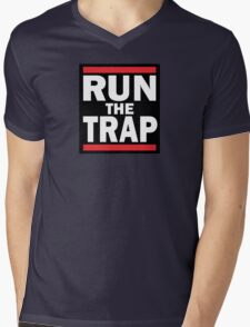 RUN the TRAP Mens V-Neck T-Shirt