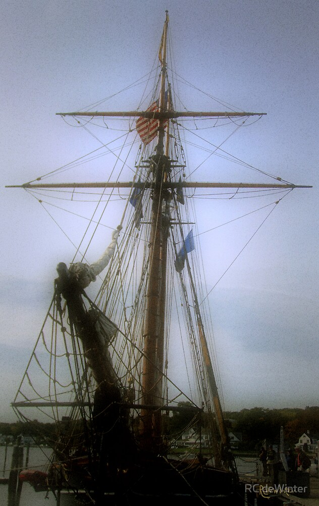 Sunset Over the Amistad by RC deWinter