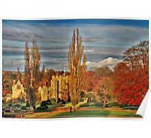 Autumn at Hever Castle Poster