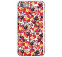 Red Pansy Floral iPhone Case/Skin