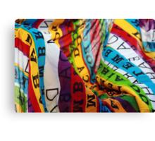 brazilian colored beach canga outfit Canvas Print