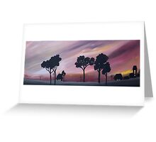 """VILLAGE @ DUSK"" Greeting Card"