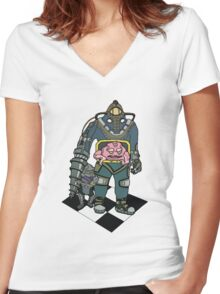 Big Daddy Krang Women's Fitted V-Neck T-Shirt