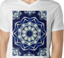 Fancy Blue T Mens V-Neck T-Shirt