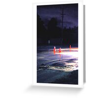 water on road Greeting Card