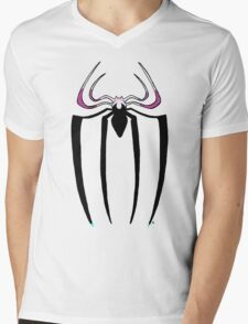 Spider-Gwen logo Mens V-Neck T-Shirt