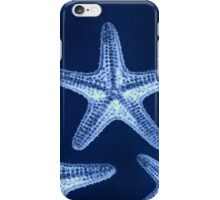 modern nautical fashion navy blue rustic beach starfish iPhone Case/Skin