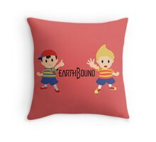 Earthbound - Ness and Lucas Throw Pillow