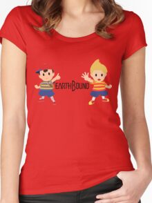 Earthbound - Ness and Lucas Women's Fitted Scoop T-Shirt