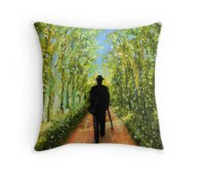 Country Rush in Oil Paint Throw Pillow
