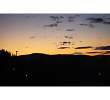 The Edge Of The Night... Photographic Print