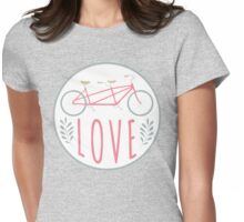 Love Tandem Pink Womens Fitted T-Shirt