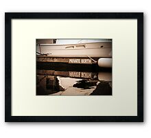 Private Berth Framed Print