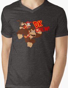 Donkey Kong (DK) Crew! Mens V-Neck T-Shirt