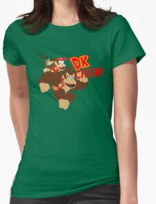 Donkey Kong (DK) Crew! Womens Fitted T-Shirt