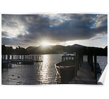 Sunset over Derwent Water Poster