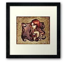 Rose Red Curls Framed Print