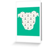 Anchor Pittie Greeting Card