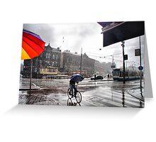 Rain in Amsterdam Greeting Card