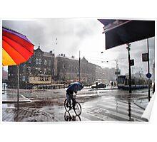 Rain in Amsterdam Poster