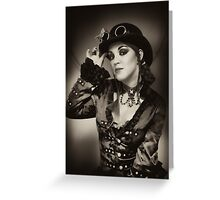 Steampunk in Sepia Greeting Card
