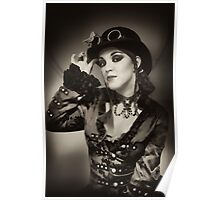 Steampunk in Sepia Poster