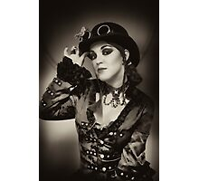 Steampunk in Sepia Photographic Print