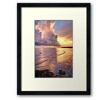 Storm Clouds at Sunset Framed Print