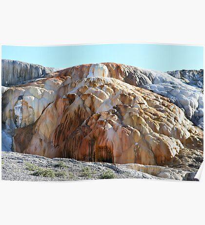 Orange Spring Mound, Yellowstone NP Poster