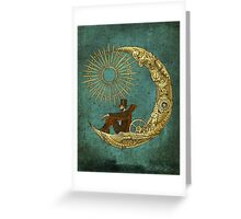 Moon Travel Greeting Card