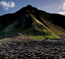 Alone at The Giants Causeway by GordonScott