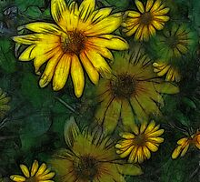 Large Yellow Wildflowers 5 by Christopher Johnson