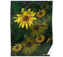 Large Yellow Wildflowers 5 Poster