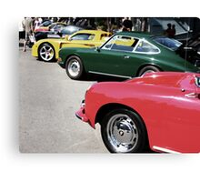 Porsche Row Digital Interpretation Canvas Print