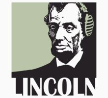 Abraham Lincoln listening to mp3 One Piece - Short Sleeve