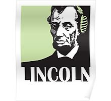 Abraham Lincoln listening to mp3 Poster