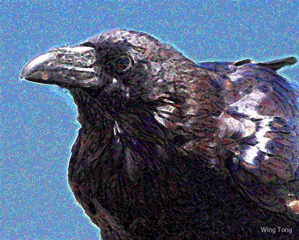 Profile of a Raven . Digital Interpretation by Wing Tong