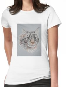 """""""Romeo Maine Coon Cat"""" Womens Fitted T-Shirt"""