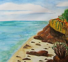 Seascape Watercolour  ~  By Ben  by danita clark