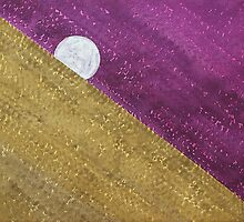 Supermoon original painting by CrowRisingMedia