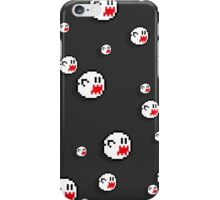 8bit Boo iPhone Case - Flat Grey iPhone Case/Skin