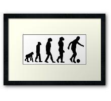 EVOLUTION SOCCER Framed Print