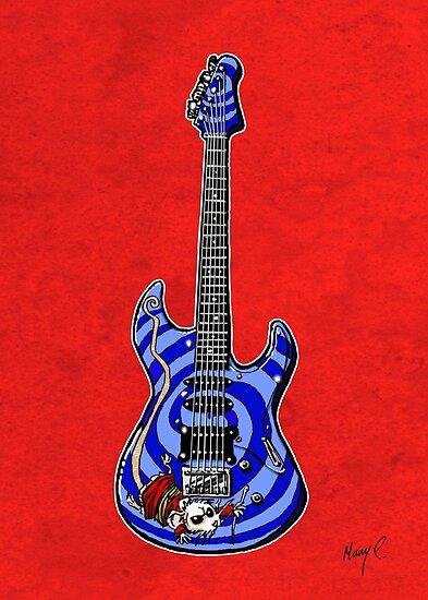 Dormouse Guitar by Mary C