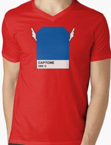 CAPTONE Mens V-Neck T-Shirt