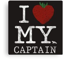 I Love My Captain Canvas Print