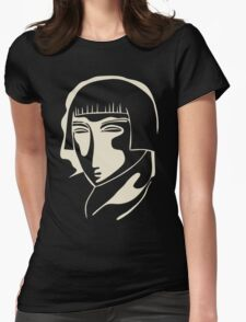 1928 woman face Womens Fitted T-Shirt