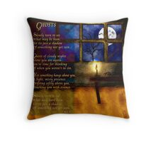 Ghosts - a Poem & an Original Painting Throw Pillow